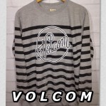 Sweater Jumpers Volcom Black Gray Stripe Logo