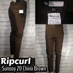 Chino Pants Keren Ripcurl Sunday20 Chino Brown