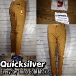 Celana Chinopants Distro Quicksilver Everyday Gold Khakis