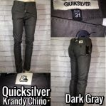 celana chino casual tren 2017 quicksilver krandy chino dark gray
