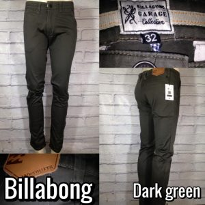 celana chino import murah billabong dark green